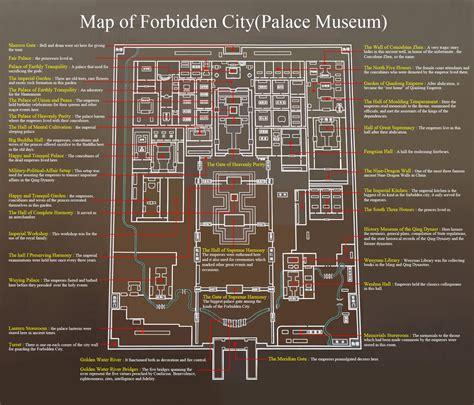 forbidden city floor plan forbidden city tourist map beijing china mappery