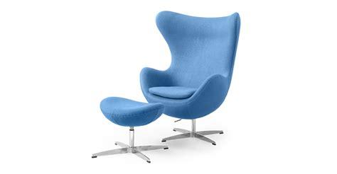 Egg Chair Baby egg chair ottoman baby blue boucle wool ebay