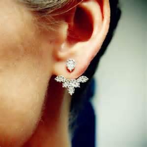 ear earrings quot petal quot ear jackets plukka shop jewelry