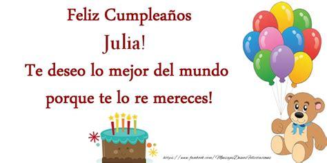 imagenes de happy birthday vanessa julia felicitaciones de cumplea 241 os