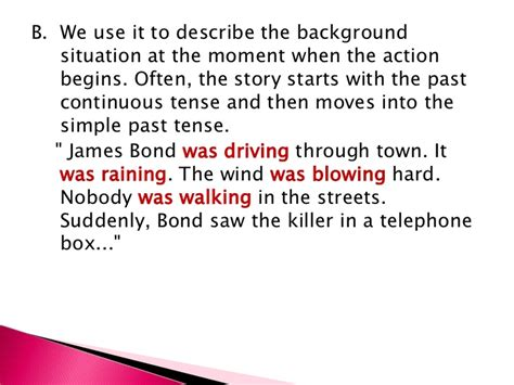 drive past tense the past continuous tense