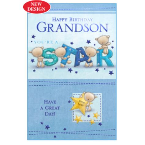 Grandson Birthday Card Birthday Card Grandson Quotes Quotesgram