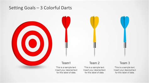 setting goals template for powerpoint with target amp darts