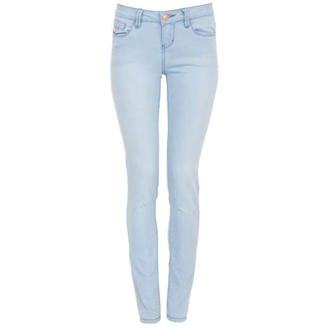 light blue skinny jeans womens 34in light blue supersoft skinny jeans polyvore