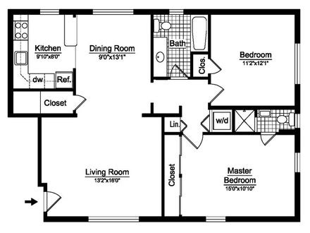 3 bedroom 2 bath open floor plans two bedroom house floor plans small two bedroom house