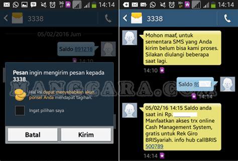 format sms banking dr bni ke bri cara cek saldo rekening bri syariah lewat sms banking dan