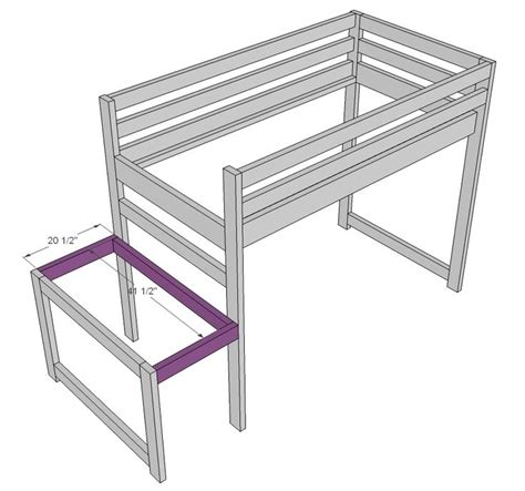 loft bed plans with stairs ana white build a c loft bed with stair junior