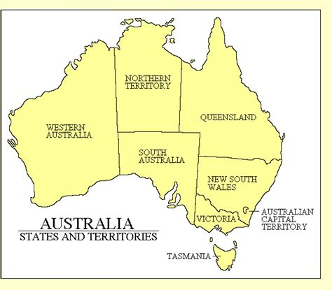 australia map with country names and capitals adam carr s electoral archive