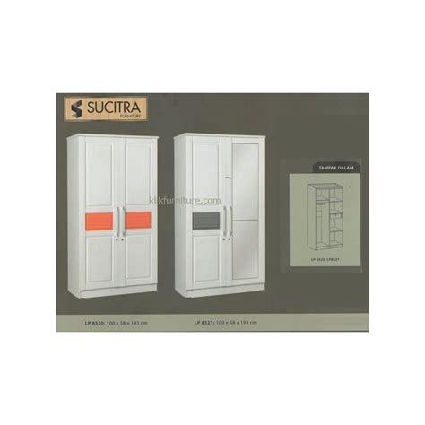 Lemari Pakaian 2 Pintu Khusus Pengiriman Daerah Cirebon lemari putih minimalis 2 pintu lp 8520 lp 8521 bellamy sucitra