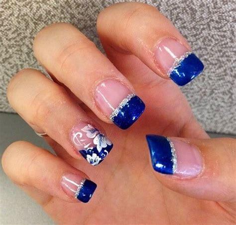imagenes de uñas de acrilico color turquesa 50 ideas para pintar u 241 as color azul blue nails u 209 as