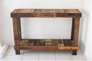 Pallet Console Table Diy Reclaimed Pallet Wood Tables Diy And Crafts