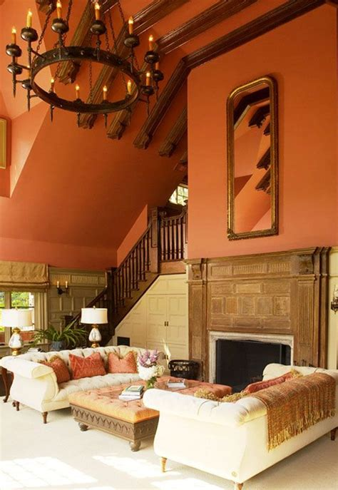 Burnt Orange Living Room Walls by Burnt Orange Wall Color Is What We Are Doing In The