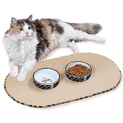 bowl mat the original taupe pet bowl mats bed bath beyond