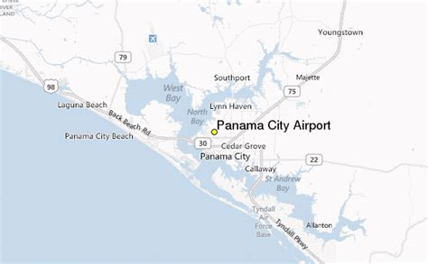 panama city airport weather station record historical