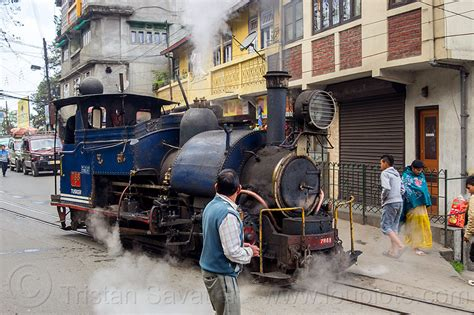 Car Engine Types In India by Steam Locomotive On Darjeeling India