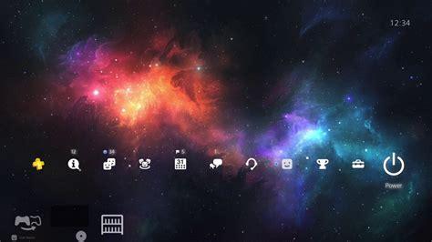 free themes galaxy v colorful galaxy 4k playstation 4 dynamic theme youtube