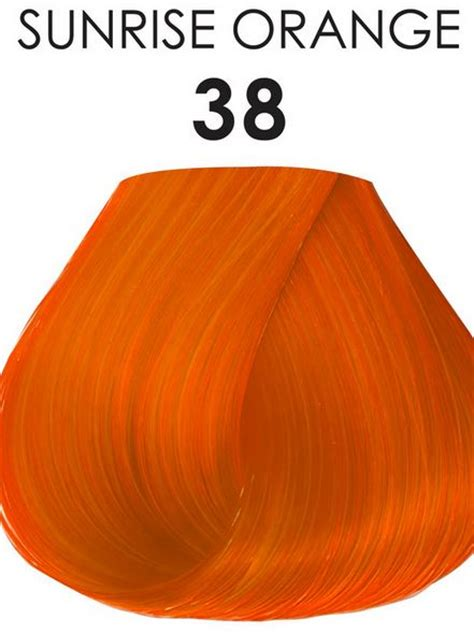 semi permanent hair color ginger orange adore semi permanent hair color 38 sunrise orange 4 oz