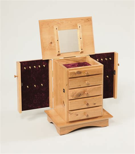 Jewelry Dresser by Shaker Dresser Top Jewelry Cabinet Amish Valley Products