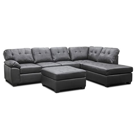 leather sectional sofa with ottoman mario brown leather modern sectional sofa with ottoman