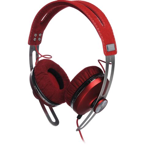sennheiser momentum headphones sennheiser momentum on ear headphones red 505993 b h photo