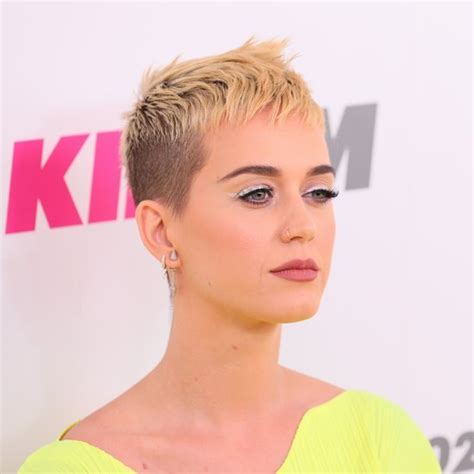 she cut her hair very short katy perry popsugar me