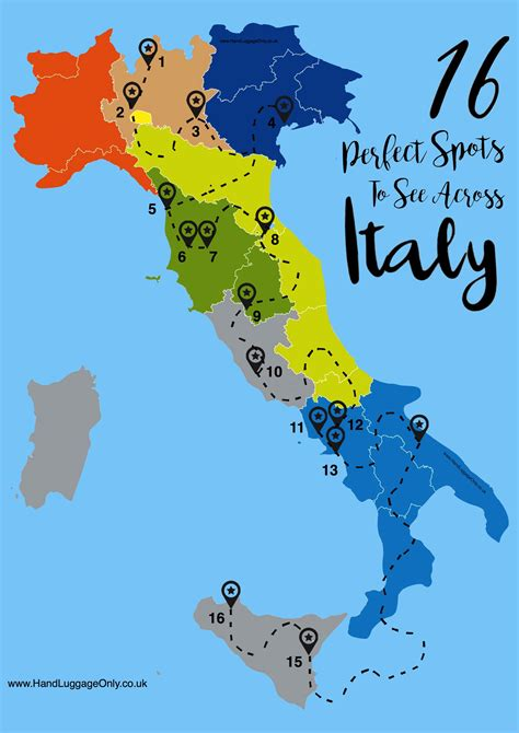 map uk to italy 16 places you need to visit when in italy