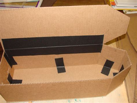 How To Make A Paper Coffin - doll coffin from cardboard 5