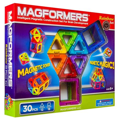 magformers 30 set magformers rainbow 30 set cogs the brain shop