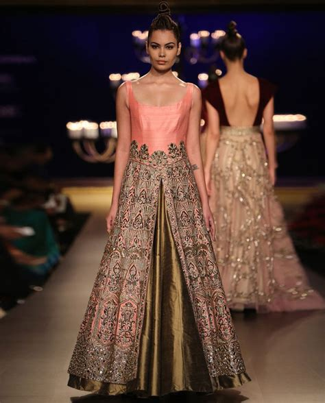 Jkt Femara Abupink olive gold lengha set with embroidered chagne pink jacket by manish malhotra india couture