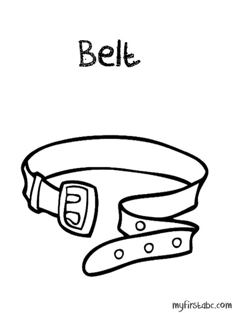 Belt Coloring Pages free coloring pages of belt