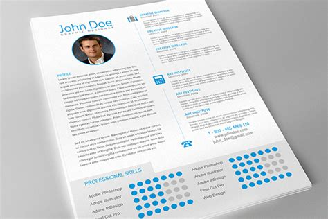 resume template indesign published