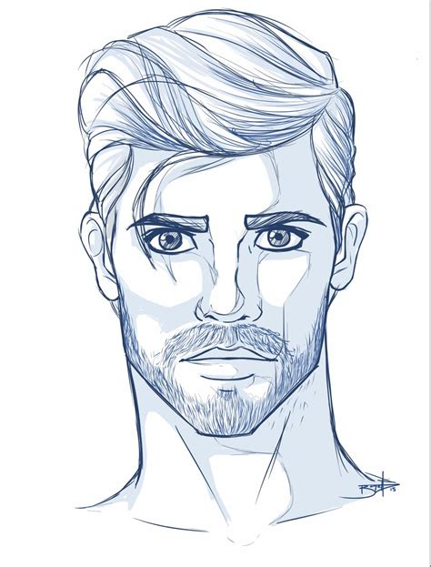 sketch 2015 male face 2 by t0ofie on deviantart