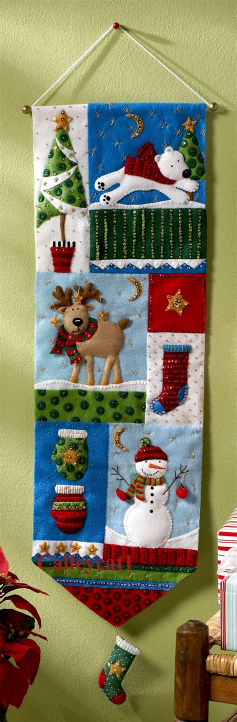 Patchwork Wall Hanging Kits - patchwork bucilla felt wall hanging kit 86191
