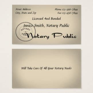 notary business cards templates business cards 1900 business card templates