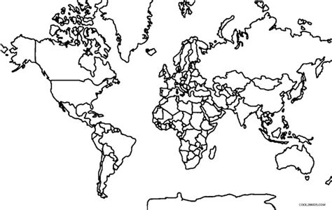 free coloring pages of map of the world with countries