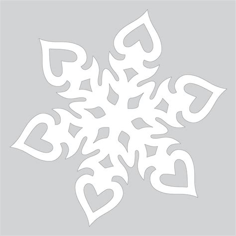 paper cut out pattern heart shaped paper snowflake pattern to cut out free