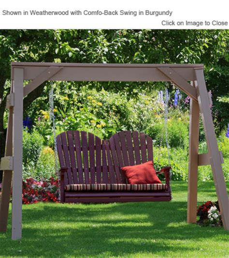 Vinyl Patio Swing Outdoor Poly Furniture Amish Vaf920 Vinyl Swing A Frame