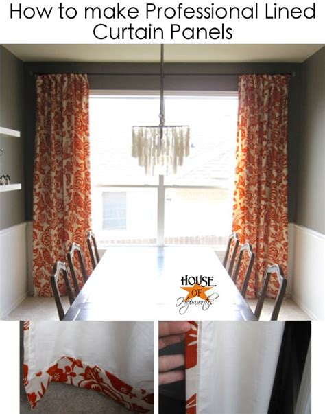 how to make drapes with lining how to make professional lined curtain panels