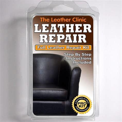 black leather sofa chair repair kit  tears holes scuffs  colour dye  ebay