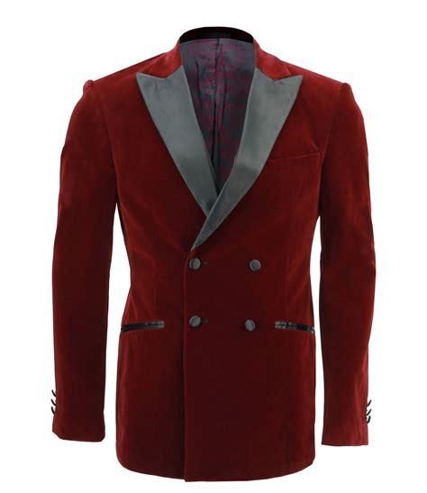 Jaket Blazer Maroon mens maroon soft velvet breasted blazer satin lapel suit jacket tuxedo