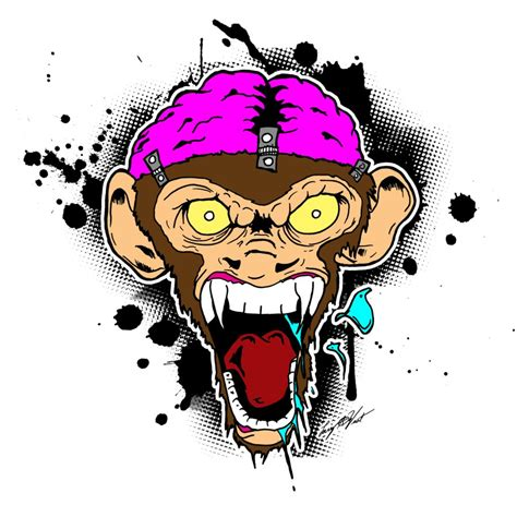 evil screaming monkey brain by luvataciousskull on deviantart