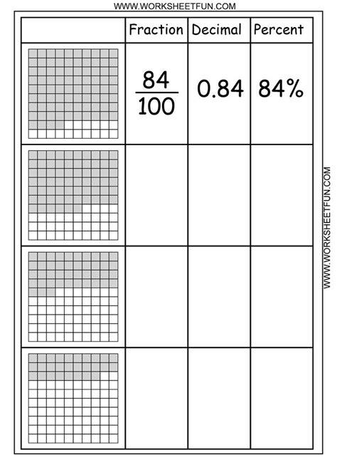 printable math worksheets decimals fractions comparing fractions and decimals worksheet comparing