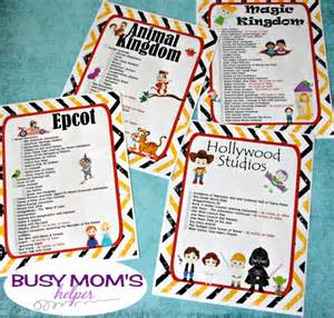 World Rides List Free Printable Walt Disney World Ride Checklists Busy