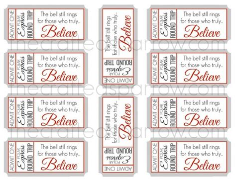 printable minivan express tickets best photos of polar express bell template bell polar