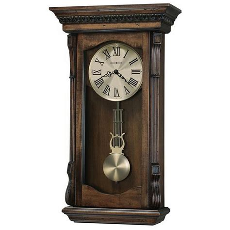 wall clocks howard miller agatha triple chime pendulum wall clock 625578