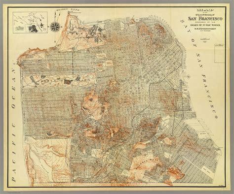 san francisco map vintage historic maps of san francisco michigan map