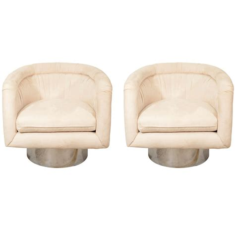 swivel chair for tub pair of swivel tub lounge chairs by for pace