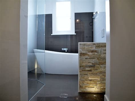 bathroom floor lighting ideas freestanding bath feature wall floor lighting