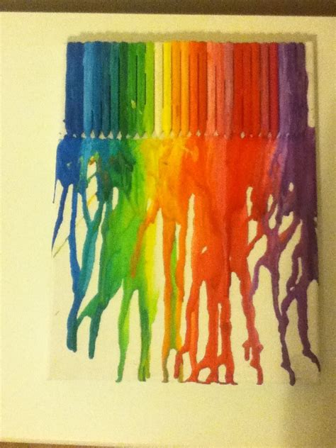 Crayon And Hairdryer melting crayons with a hair dryer to produce instant trusper
