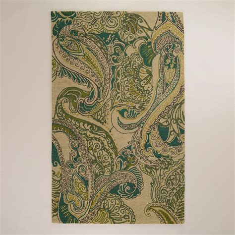 Recycled Plastic Outdoor Rugs Paisley Indoor Outdoor Rugs World Market